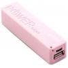 Аккумулятор универсальный внешний Gmini GM-PB026-P, 2600mAh, розовый, купить за 325руб.