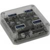 USB концентратор Orico MH4U-U3(-03)-CR 4-Port прозрачный, купить за 1 195руб.
