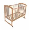 Детская кроватка Малика Sona-1 (колесо-качалка), натуральный бук, купить за 7 800руб.