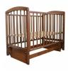Детская кроватка Малика Sona-2 (маятник), орех светлый, купить за 7 685руб.