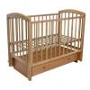 Детская кроватка Малика Sona-3 с ящиком, натуральный бук, купить за 7 590руб.