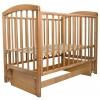 Детская кроватка Малика Sona-2 (маятник), натуральный бук, купить за 6 895руб.