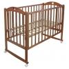 Детская кроватка Малика Laura-1 (колесо, качалка), светлый орех, купить за 7 770руб.