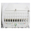 Детская кроватка By Twinz Мэри Путешествие на шаре (поперечный маятник), белая, купить за 8 580руб.