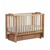 Детская кроватка Malika Laura-3 с ящиком, натуральный бук, купить за 9 950руб.