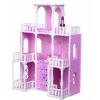 Игрушки для девочек Домик для кукол Krasatoys Малика (278), бело-сиреневый, купить за 3 980руб.