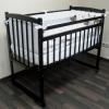 """Детская кроватка Массив """"Беби-2"""" опускающееся боковое ограждение, венге, купить за 3 270руб."""