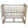 Детская кроватка Массив Беби-4, поперечное качание, без ящика, слоновая кость, купить за 4 345руб.