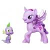Игрушки для девочек Набор Hasbro Сияние Поющая Твайлайт Спаркл и Спайк C0718, купить за 1 300руб.