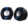 Компьютерная акустика Oklick OK-203 2.0, черные/синие, купить за 725руб.