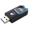 usb-флешка Corsair 16Gb Voyager Slider X2 (CMFSL3X2-16GB), USB3.0, черная/голубая