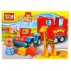 Конструктор Город мастеров (LL-1005-R) Машинка с жирафом, с фигуркой, купить за 785руб.