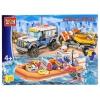 Конструктор Город мастеров (LL-5029-R) Полиция Спасательный джип с лодкой, купить за 1 835руб.