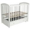 Детская кроватка Малика Sona-3 с ящиком, белая, купить за 7 610руб.