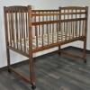"""Детская кроватка Массив """"Беби-2"""" опускающееся боковое ограждение,  орех, купить за 2 940руб."""