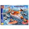Конструктор Город мастеров (LP-5032-R) Самолет спасателей, с фигурками, купить за 815руб.