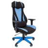 Игровое компьютерное кресло Chairman game 14 чёрное/голубое, купить за 10 545руб.