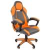 Кресло офисное Chairman game 20 экопремиум, серо-оранжевое, 7025815, купить за 9 386руб.