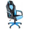 Кресло офисное Chairman game 17 экопремиум, черно-голубое, 7024559, купить за 6 100руб.