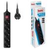 Сетевой фильтр Buro 500SH-1.8-B (1.8м 5 розеток), черный, купить за 580руб.