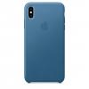 Чехол для смартфона Apple Leather Case для iPhone XS Max Cape Cod Blue (MTEW2ZM/A), купить за 3915руб.