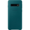 Чехол для смартфона Samsung для Samsung Galaxy S10 Leather Cover зеленый, купить за 2415руб.