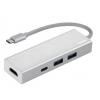 USB концентратор Hama Aluminium (00135756) белый, купить за 1 465руб.