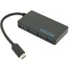 USB концентратор Hub 4 port, Чёрный, купить за 990руб.