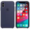 Чехол iphone Apple для iPhone XS (MRW92ZM/A) темно-синий, купить за 2800руб.