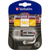 Usb-флешка Verbatim Mini Cassette Edition 49397, черный/рисунок, купить за 720руб.
