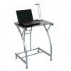 стол компьютерный Бюрократ GD-002/Black черный