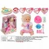 Кукла Наша игрушка Мой пупсенок в розовом платье (9 аксессуаров), купить за 1 170руб.