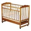 Детская кроватка Женечка-4 колесо-качалка, ящик, светлая, купить за 3 299руб.