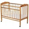 Детская кроватка Женечка, колесо, светлая, дерево, купить за 2 499руб.