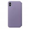Чехол для смартфона Apple Leather Folio для iPhone XS Max - лиловый (MVFV2ZM/A), купить за 10 535руб.