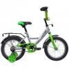 Велосипед Novatrack Vector 14, серебристый, купить за 5 050руб.