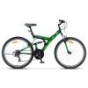 """Велосипед STELS Focus V 26"""" 18-sp V030 LU086305-LU071323 18"""", чёрный-зелёный, купить за 11 955руб."""