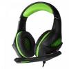 Гарнитура для пк Crown CMGH-2002 Black-green, полноразмерные, купить за 1 210руб.
