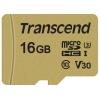 Карту памяти Transcend TS16GUSD500S 16Gb с адаптером, купить за 900руб.