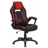 Кресло офисное Бюрократ CH-829 черный/красный искусственная кожа, купить за 6 125руб.