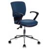 Кресло офисное Бюрократ CH-636AXSL/DENIM синий Bahama крестовина хром, купить за 4 885руб.