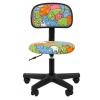 Компьютерное кресло Chairman Kids 101 (ткань, 00-07032599), котики, чёрное, купить за 2 995руб.