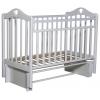 Детская кроватка Антел Каролина 3/5, универс. маятник (место 120x60 см, без матраса), белая, купить за 5 205руб.