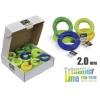 Леска для газонокосилок Rezer ECO-TRIM Multicolor (2 мм x 15 м x 45, круг, квадрат, 03.007.00136), несколько цветов, купить за 1 110руб.