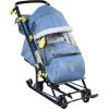 Санки-коляску Ника Детям НД 7-7  дизайн в джинсовом стиле  синий, купить за 5700руб.