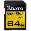 Карта памяти SDXC Adata Premier ONE UHS-II U3 Class 10 64 GB, V90, 290 MB/s, купить за 3 775руб.