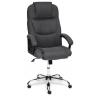 Кресло офисное Tetchair BERGAMO хром, темно-серый, F68, купить за 9 990руб.