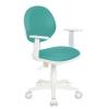 Компьютерное кресло Бюрократ CH-W356AXSN/15-175 сиденье бирюзовый 15-175 (пластик белый), купить за 3 690руб.