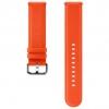 Ремешок для умных часов Samsung Galaxy Watch Leather Band ET-SLR82MOEGRU для Samsung Galaxy Watch Active/Active2 оранжевый, купить за 3440руб.