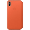 Чехол для смартфона Apple iPhone XS Leather Folio -  теплый закат (MVFC2ZM/A), купить за 8140руб.